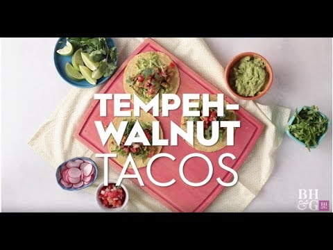 Tempeh-Walnut Tacos | Fast & Fresh | Better Homes & Gardens