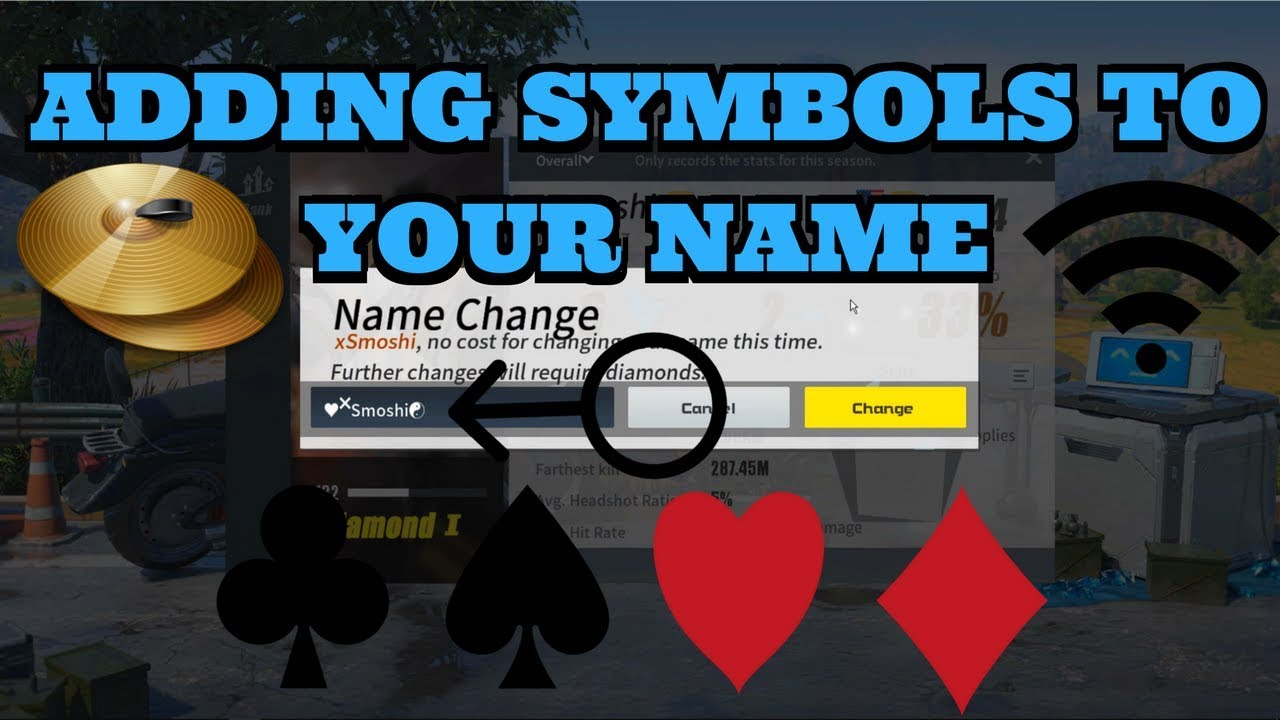 Rules Of Survival How To Add Symbols To Your Name Youtube