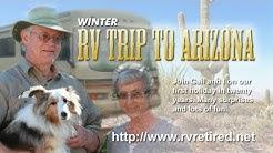 Winter RV  trip to Arizona, Snowbird travel stories, Travel adventures in our RV,