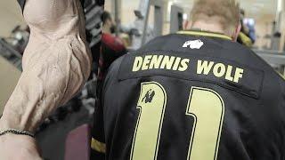 Как Деннис Вольф тренируется после травмы. Живая тренировка!