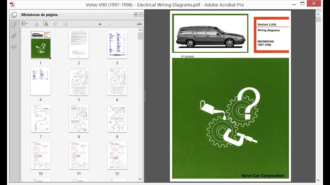 Volvo V90  1997-1998  - Electrical Wiring Diagrams