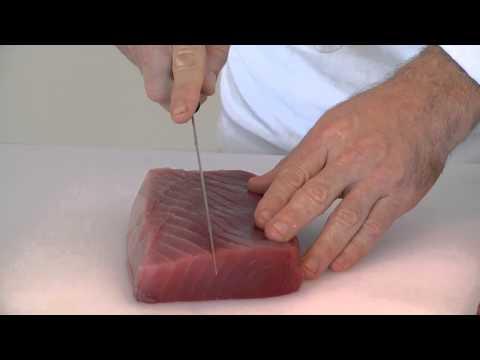 How to Cut an Ahi Tuna Steak for an Appetizer