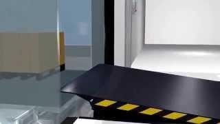 видео Уравнительная платформа для склада