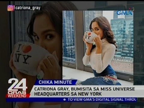 Catriona Gray, bumisita sa Miss Universe headquarters sa New York