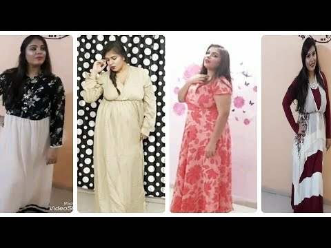 Plus Size Try On Haulmaxi Dresses Western Wear For Curvy Body