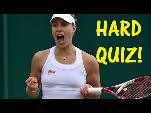 Very Difficult Quiz on Angelique Kerber! - WTA Finals Singapore 2016