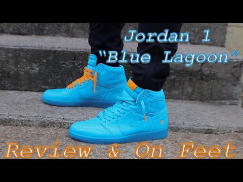 "80b184709f68 Jordan 1 Retro High ""Blue Lagoon"" GATORADE Review   On-Feet - YouTube"