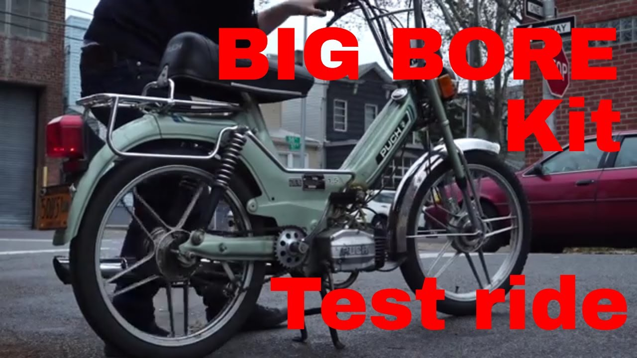 BIG BORE kit TESTED - Second Stroke Mopeds