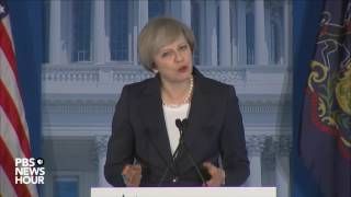 Watch British Prime Minister Theresa May address GOP retreat