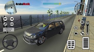 Direksiyonlu Volkwagen Golf Sürme Oyunu // Drift Simulator: GT-R Android Gameplay FHD