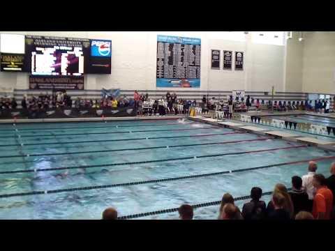 2017 Hudsonville Varsity Swimming State Meet 100 Breast Stroke