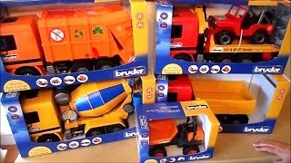 2015 - Top 5 Bruder TRUCK TOYS Inc. RECYCLING GARBAGE LORRY AND CEMENT MIXER