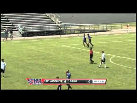 Austen Burnikel of St. Joseph's scores hat trick in the SCHSL class A boys soccer championship