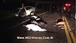 Acidente na BR-262 mata 3 pessoas entre Terenos e Indubrasil.wmv
