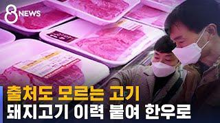 출처도 모르는 고기…돼지고기 이력 붙여 한우로 / SB…
