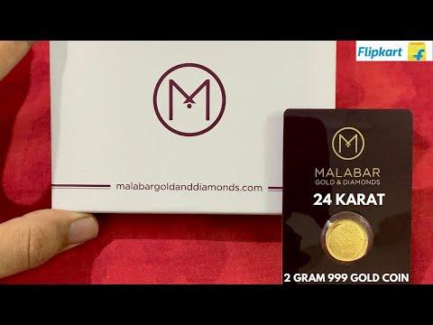 Malabar Gold & Diamonds 2 Gram 24 Karat Gold Coin Unboxing | Flipkart Sale | Indian Bullionaire