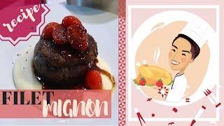 Gambar cover Филе Миньон с Картофельным Пюре и Винным соусом   Filet Mignon Recipe