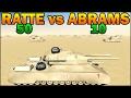 50 RATTES vs 10 ABRAMS - WW2 vs MODERN TANK - Men of War Assault Squad 2 - Editor Scenario #77