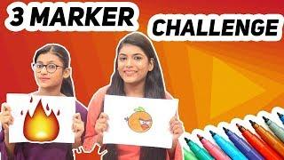 3 MARKER CHALLENGE Ft. Samreen Ali | Mahjabeen Ali