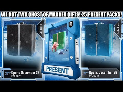 WE GOT 2 GHOST OF MADDEN GIFTS! 25 CHRISTMAS PRESENT PACKS! | MADDEN 19 ULTIMATE TEAM