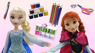 Скоро 1 сентября: Эльза готовится к школе. Мультики для девочек.
