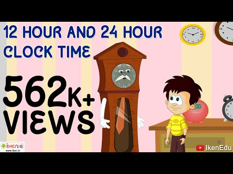 Reading Time In Different Clock System The 12 Hour And 24 Hour
