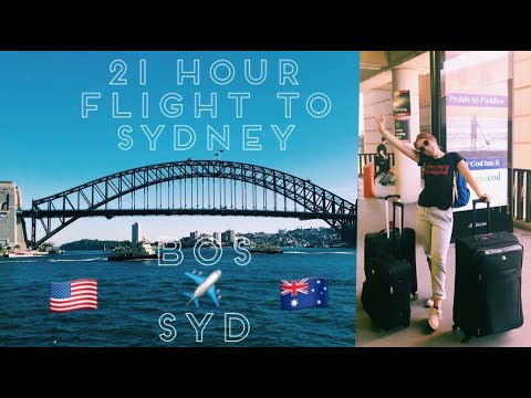 21 HOUR FLIGHT TO SYDNEY, AUSTRALIA