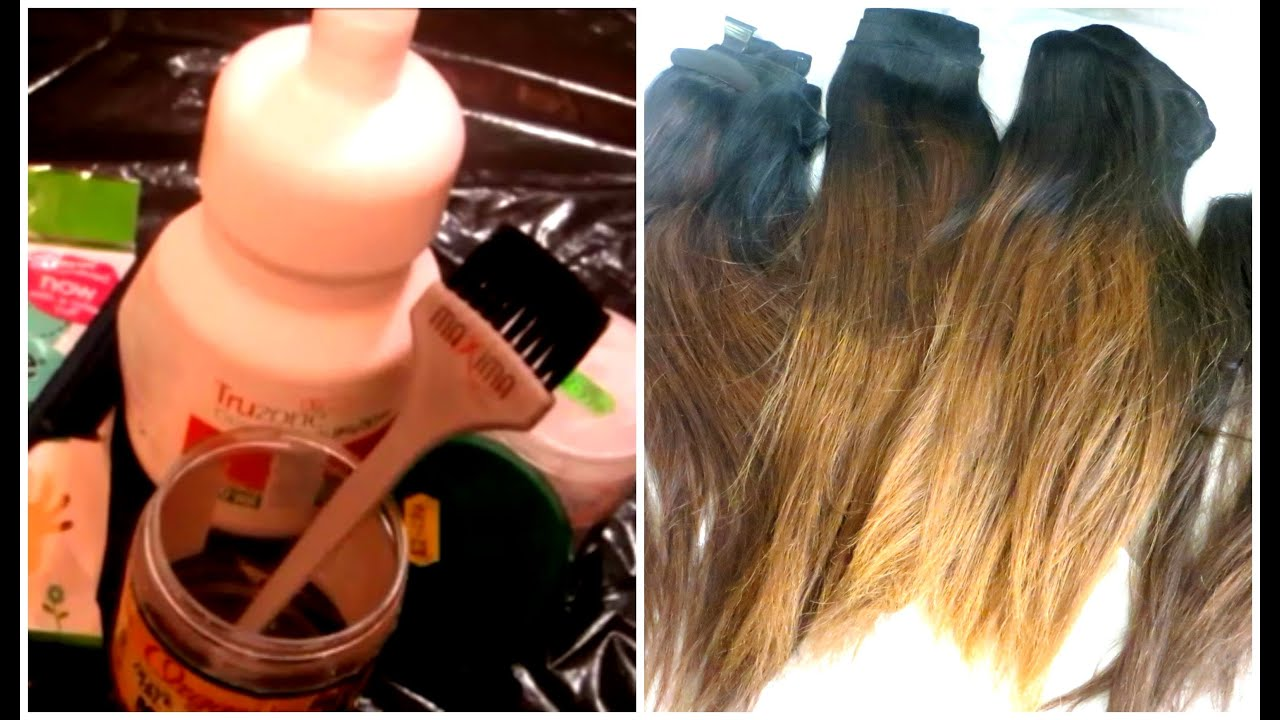 How I Bleached My Hair Extensions Impressive Hair Light Yaki