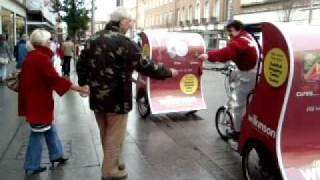 Wilkinson advertising campaign, Exeter, Ad bikes, London pedicab. greenmediaadvertising.com
