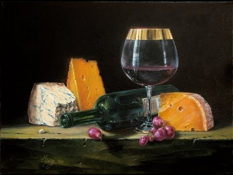 Oil Painting Techniques Realist Still Life Wine Work Of