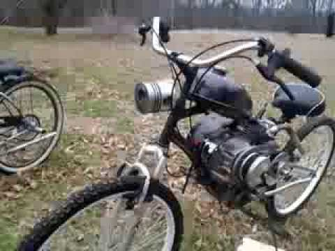 212cc Predator Bicycle Full Suspention Built In 2013 Jackshaft With Gears Plus Cvt Drive Youtube