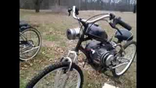 212cc predator bicycle full suspention built in 2013 jackshaft with gears plus cvt drive