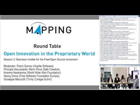 MAPPING round table - Session 2: Business models for the Free Open Source movement