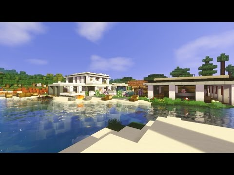 Minecraft casa moderna modern house descarga for Casa moderna minecraft pe 0 10 5