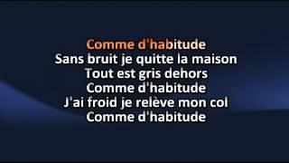 comme dhabitude Michel Sardou karaoke