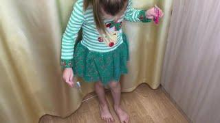 Детское Новогоднее платье с Алиэкспресс / Обзор примерка детской одежды