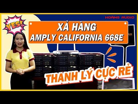Xả hàng Amply karaoke gia đình California 668E thanh lý cực rẻ 2017 - Hoàng Audio