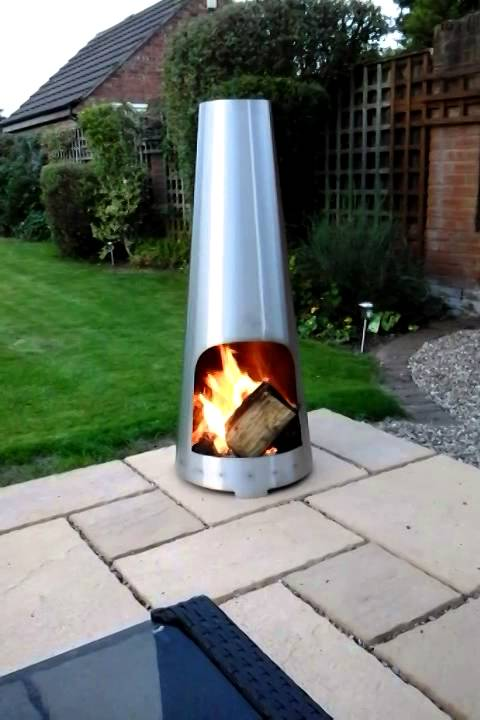 Marvelous Stainless Steel Chiminea