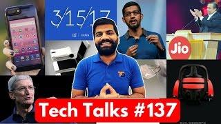 Tech Talks #137 Jio Google Budget Phone, Blue OnePlus 3T, PS4 on PC, Galaxy X, Uber India