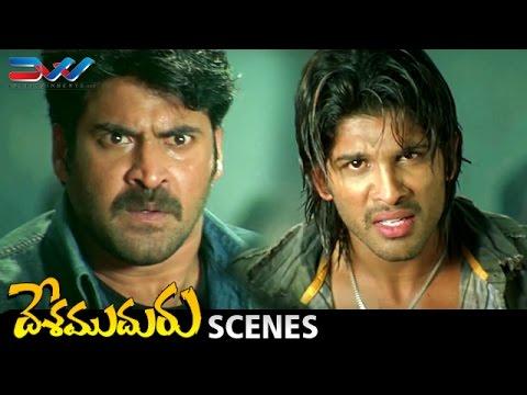 Allu Arjun Powerful Fight and Dialogue | Desamuduru Telugu Movie Scenes | Hansika | Puri Jagannadh