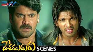 Allu Arjun Powerful Fight and Dialogue | Desamuduru Telugu Movie Scenes | Hansika | Puri Jagannadh