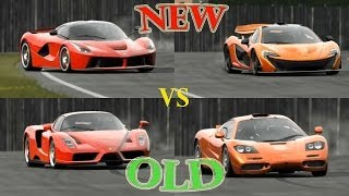 Top Gear - LaFerrari vs Ferrari Enzo vs McLaren P1 vs McLaren F1 around the Track!