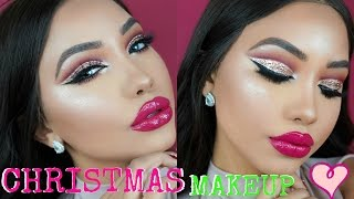 connectYoutube - CHRISTMAS GLITTER CUT CREASE MAKEUP TUTORIAL | Melly Sanchez