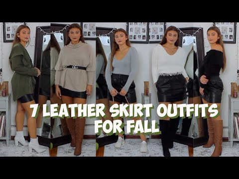 [VIDEO] - HOW TO STYLE LEATHER SKIRT FOR FALL | 7 Outfit Ideas | MELINDA BROOKE 1