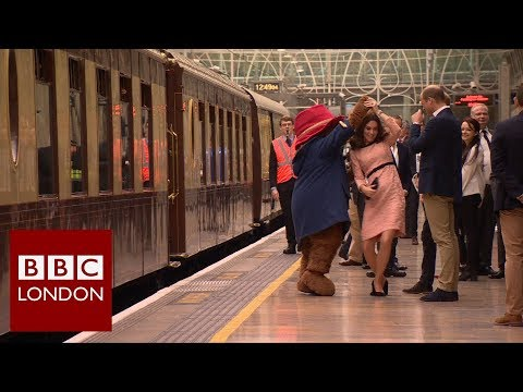 Duke and Duchess of Cambridge visit Paddington Station – BBC London News