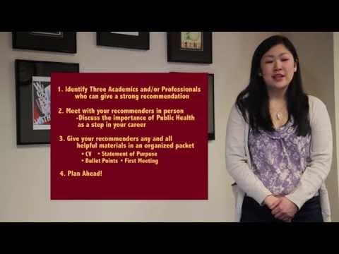University of Minnesota School of Public Health Application Tips: Getting Strong Recommendations