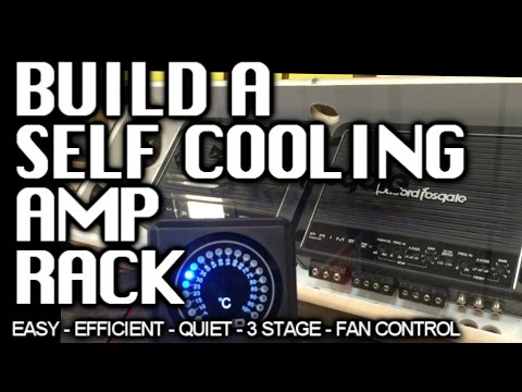 How to Build a COOL Amp Rack (easy) Temperature Monitor - 3 stage Fan Cooled