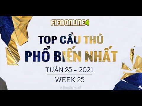 BXH Tuần 25/2021   TOP Cầu Thủ Phổ Biến Nhất FIFA Online 4