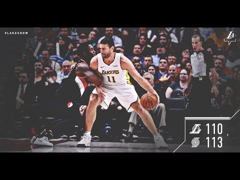 Breaking News: Larry Nance breaks his hand as the Lakers  lose to Portland.Live with DTLF