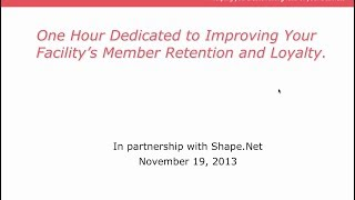 North America: In partnership with Shape.net - Improve your facility